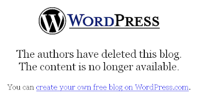 Wordpress blog deleted