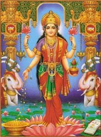 Goddess Lakshmi – the Hindu Goddess of Wealth and Fortune ~ Hindu Blog