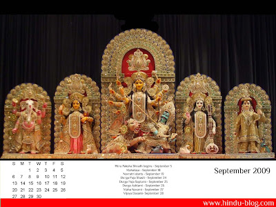 2009 september calendar. Hindu Calendar September 2009