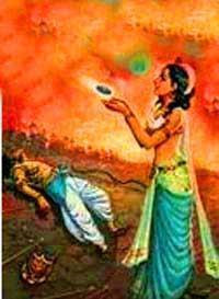 The Story of Uloopi and Arjuna  Ulupi  the Naga Princess ~ Hindu ...