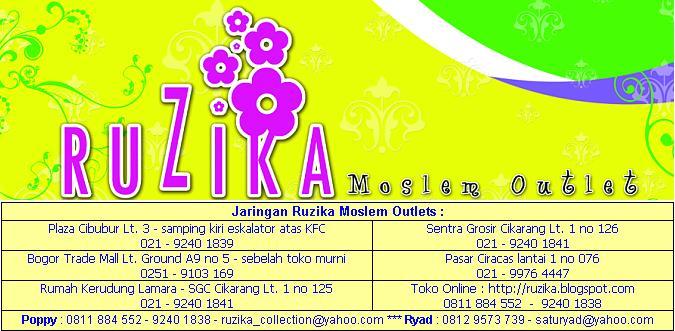 Ruzika Moslem Outlets : Grosir Jilbab - Grosir Busana Muslim