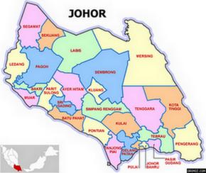 Peta Parlimen Negeri Johor