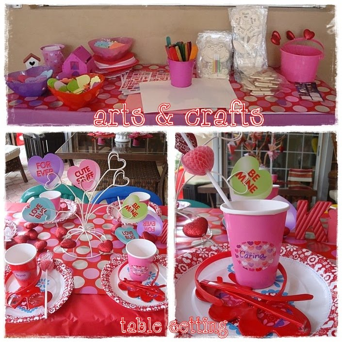 sweet bambinos: {Real Party} - Valentines Party - table setting