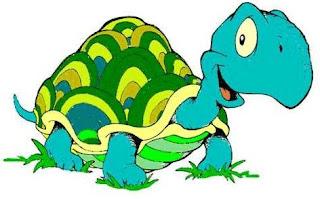 Dibujo de una tortuga feliz para niños