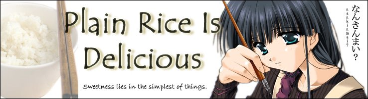 Plain Rice is Delicious - A Chun Blog