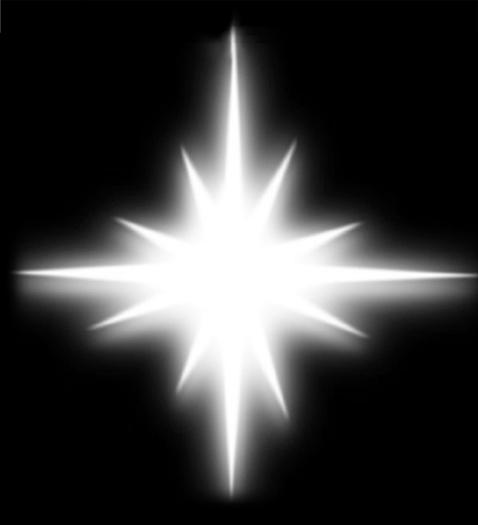 en stjerne skinner i natt