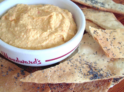 Armenian Crackers %26 Hummus Day 271: Roasted Carrot Hummus and Armenian Crackers