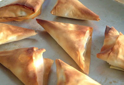 Spanikopita+ +baked Day 298: Spanakopita Triangles and Seafood Risotto