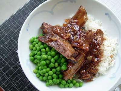 Ginger+Soy+Ribs+2 Day 305: Sticky Ginger Soy Ribs, Peas and Rice