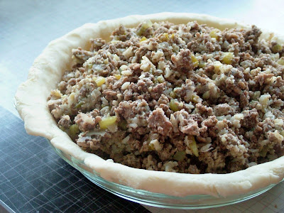 Tourtiere+ +open Day 351: Tourtière with Apple Plum Chutney