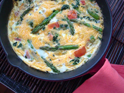 Asparagus+Frittata Asparagus, Tomato and Spinach Frittata