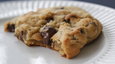 Chocolate+chip+cookies+ +bite (Lower Fat) Chocolate Chip Cookies