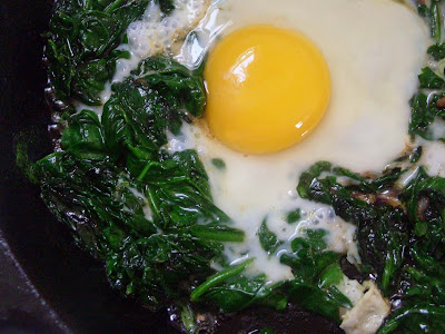 Spinach+and+egg Asparagus Cauliflower Vichyssoise and Sautéed Spinach with Eggs