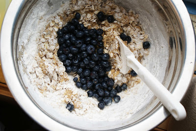 mixing+bowl Chewy Blueberry Oatmeal Cookies