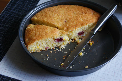 Cornmeal+cake Cornmeal Cake with Fresh Corn and Raspberries