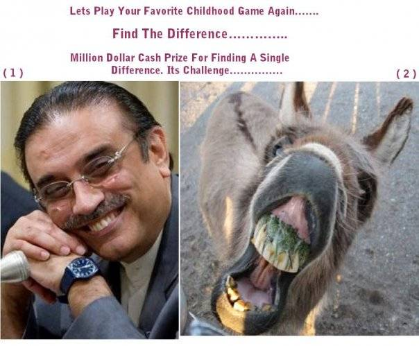 funny photos of president asif ali zardari