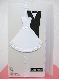 Bridal Gown & Tuxedo Wedding Congratulatory Card
