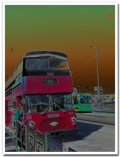 Gammal buss solariserad
