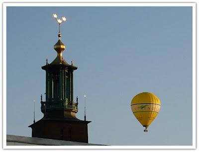 Luftballong på höstfärd