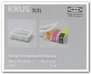 Te-låda enligt IKEA