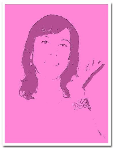 Porträtt i rosa