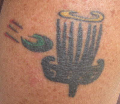 Cubby 39 s disc golf world may 2007 for Disc golf tattoos