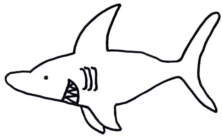Lively image intended for printable shark template