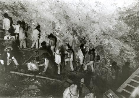 Mineros trabajando en Guanajuato 1908