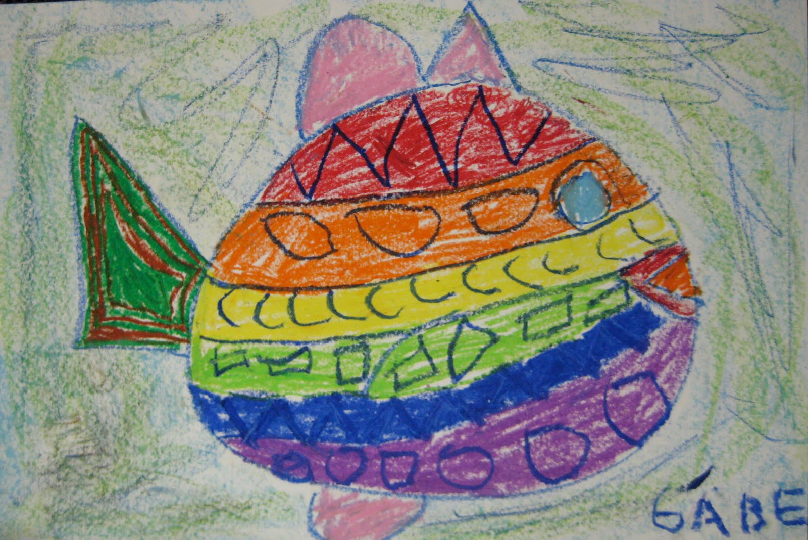 Drawing Using Lines : Drawing fish with lines and shapes u2022 teachkidsart