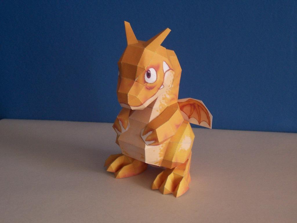 Papercraftspace Pepakura Dragon