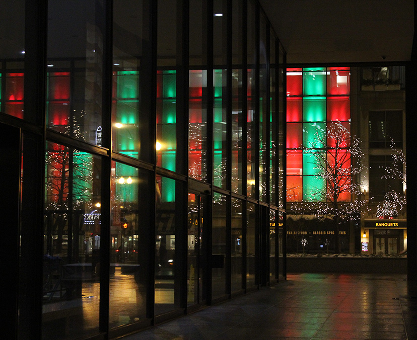 Daley Center and Goodman Theater, Chicago, Christmas, 2010