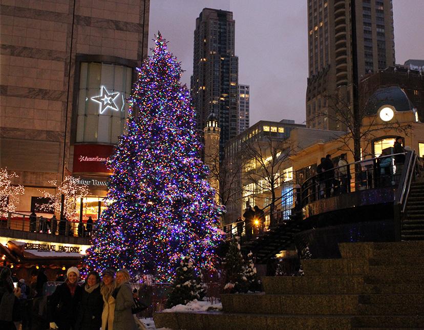 Christmas Tree at Chicago's John Hancock Center, 2010
