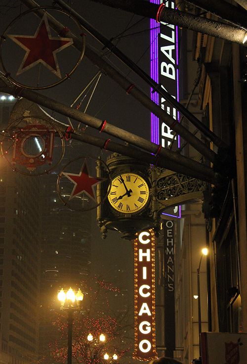 Macy's (Marshall Fields) and State Street, Chicago, Christmas, 2010