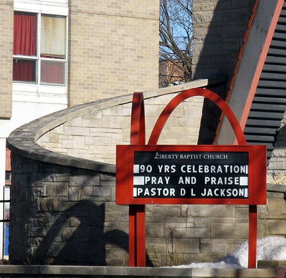 signage, Liberty Baptist Church, Chicago