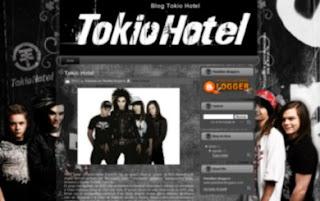 plantilla para blogger de Tokio Hotel