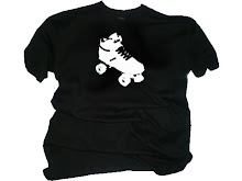 Mens Retro Roller Skate Black T Shirt