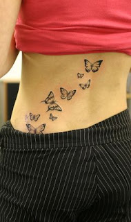 buterfly tattoos hotest in back bound