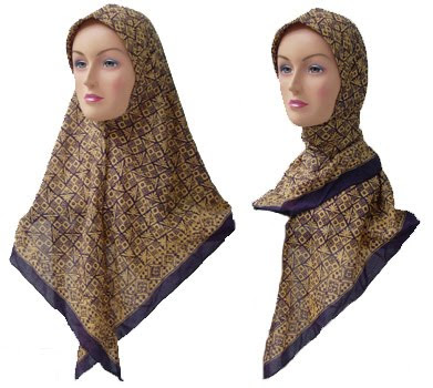 jilbab batik