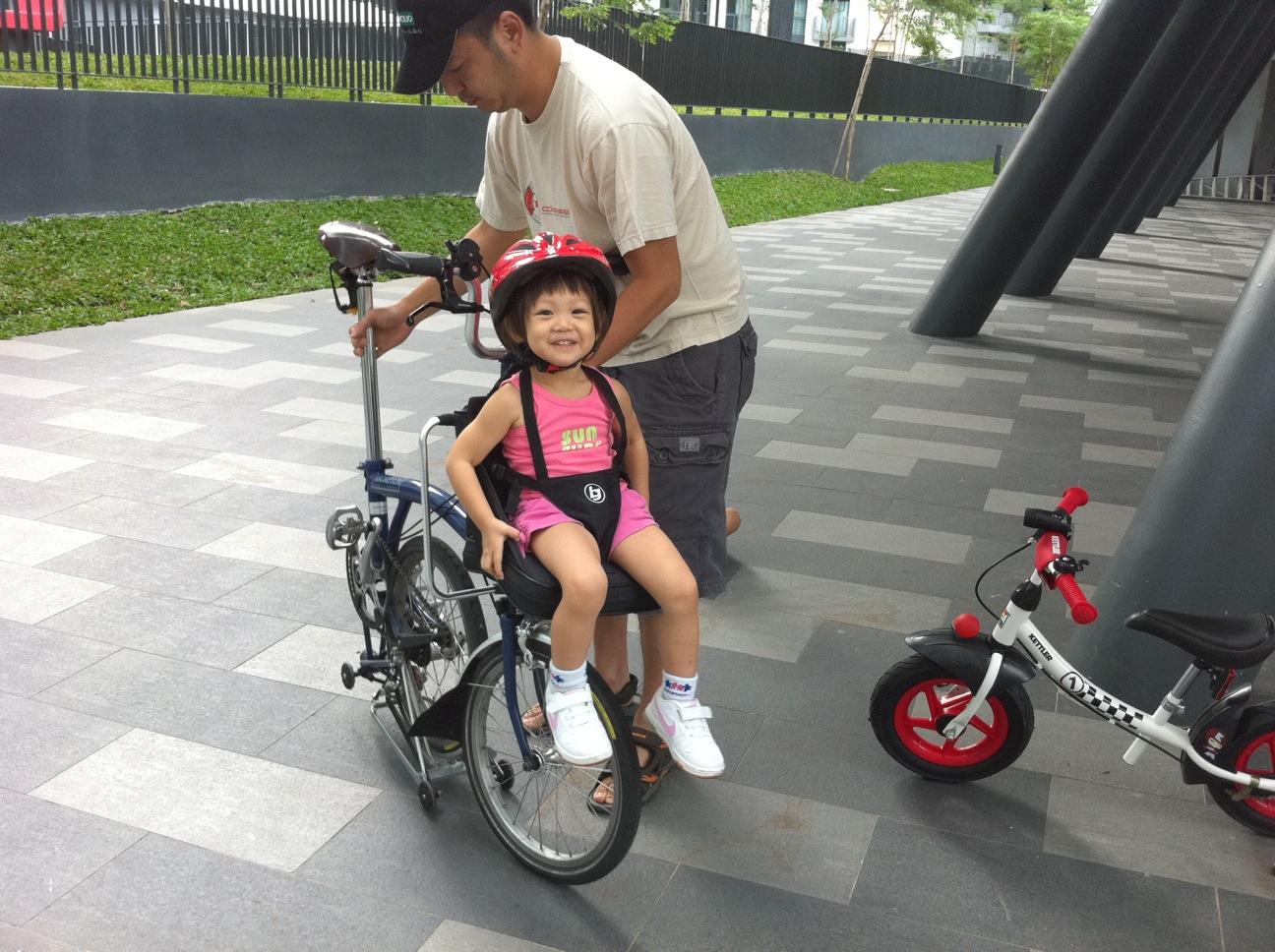 ethan and talia s world talia s brompton bike seat