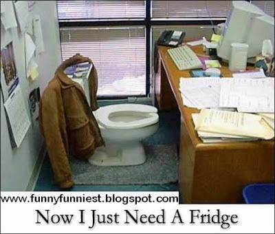 Funny Crazy Room Office: No Breaks