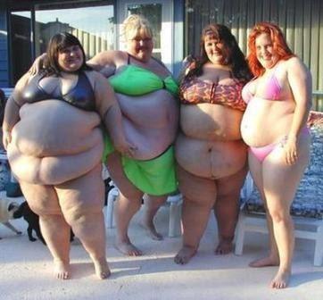 Funny Humor People: Bikini Babes Sexy Fat Posing