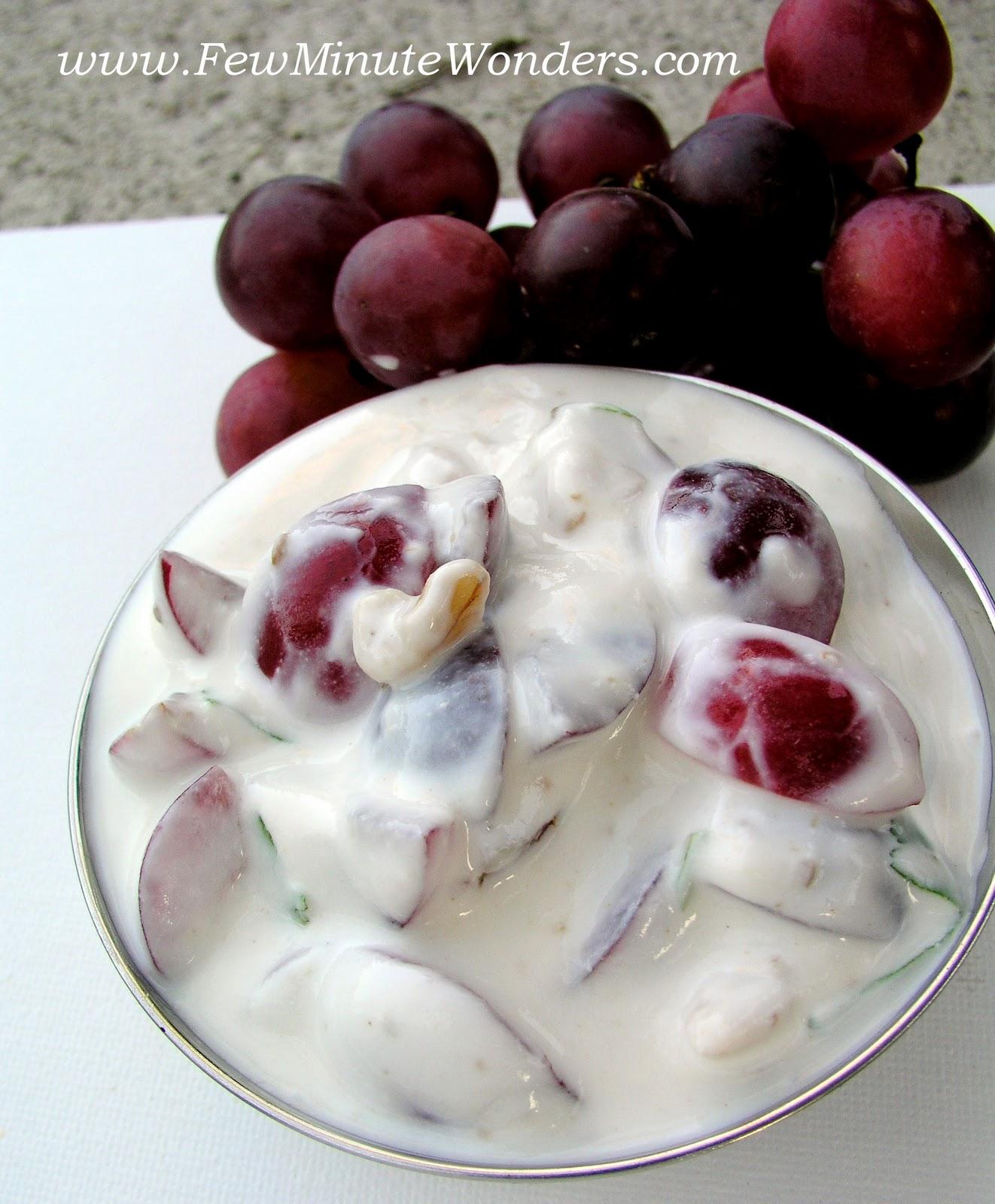 Grapes and Walnut Raita | fewminutewonders
