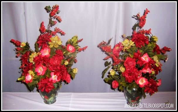 Creating large silk flower arrangements mad in crafts i used these same tricks when my cousin and i made the altar flowers for her sisters wedding a few years back since we had made the arrangements ourselves mightylinksfo