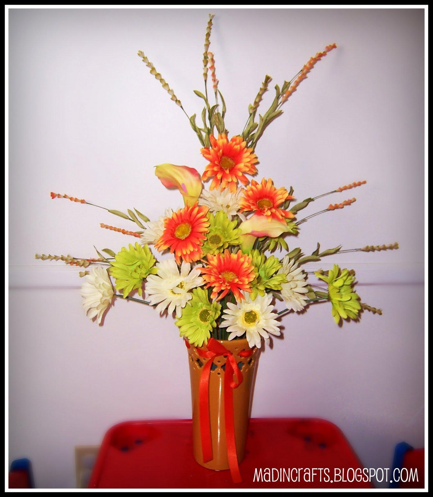 Creating Large Silk Flower Arrangements - Mad in Crafts