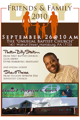 Signatures by sarah friends and family day church flyer