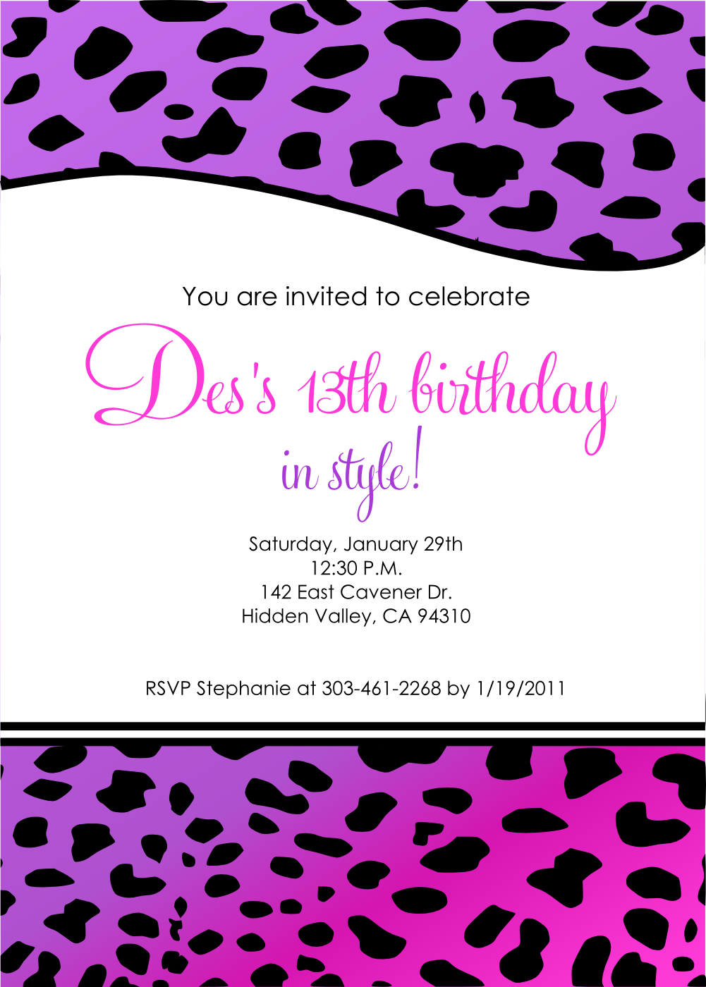 birthday party invitation templates .
