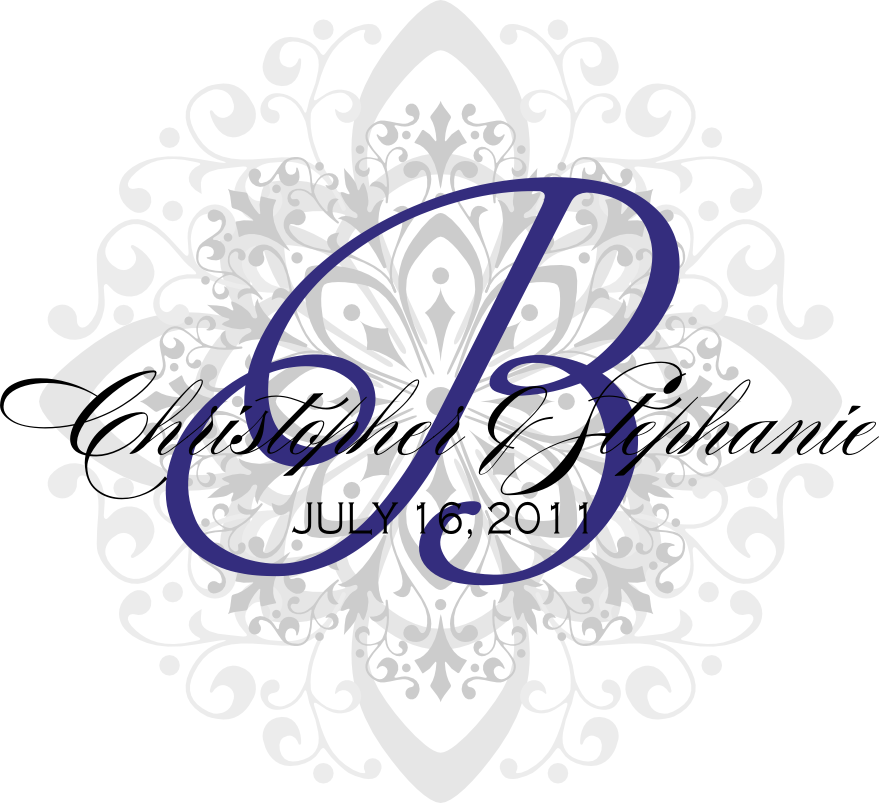 Signatures by Sarah: Monograms and invitation template for Stephanie