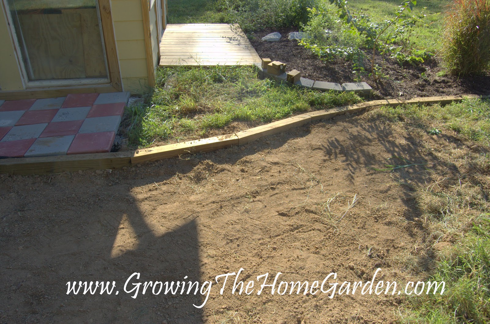 Landscape timber shed foundation