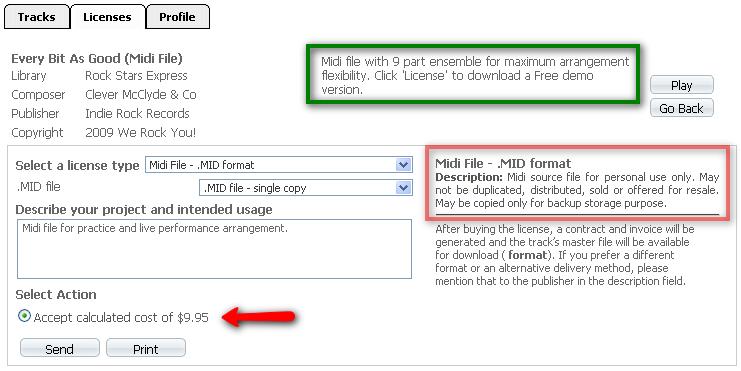 Receipt Com Midi Files Licensing Profile Setup Tutorial Demotutorial Invoice  Template For Free With Cash Deposit Receipt Pdf The Track Item Description  ...