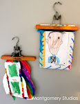 kids' artwork hangers